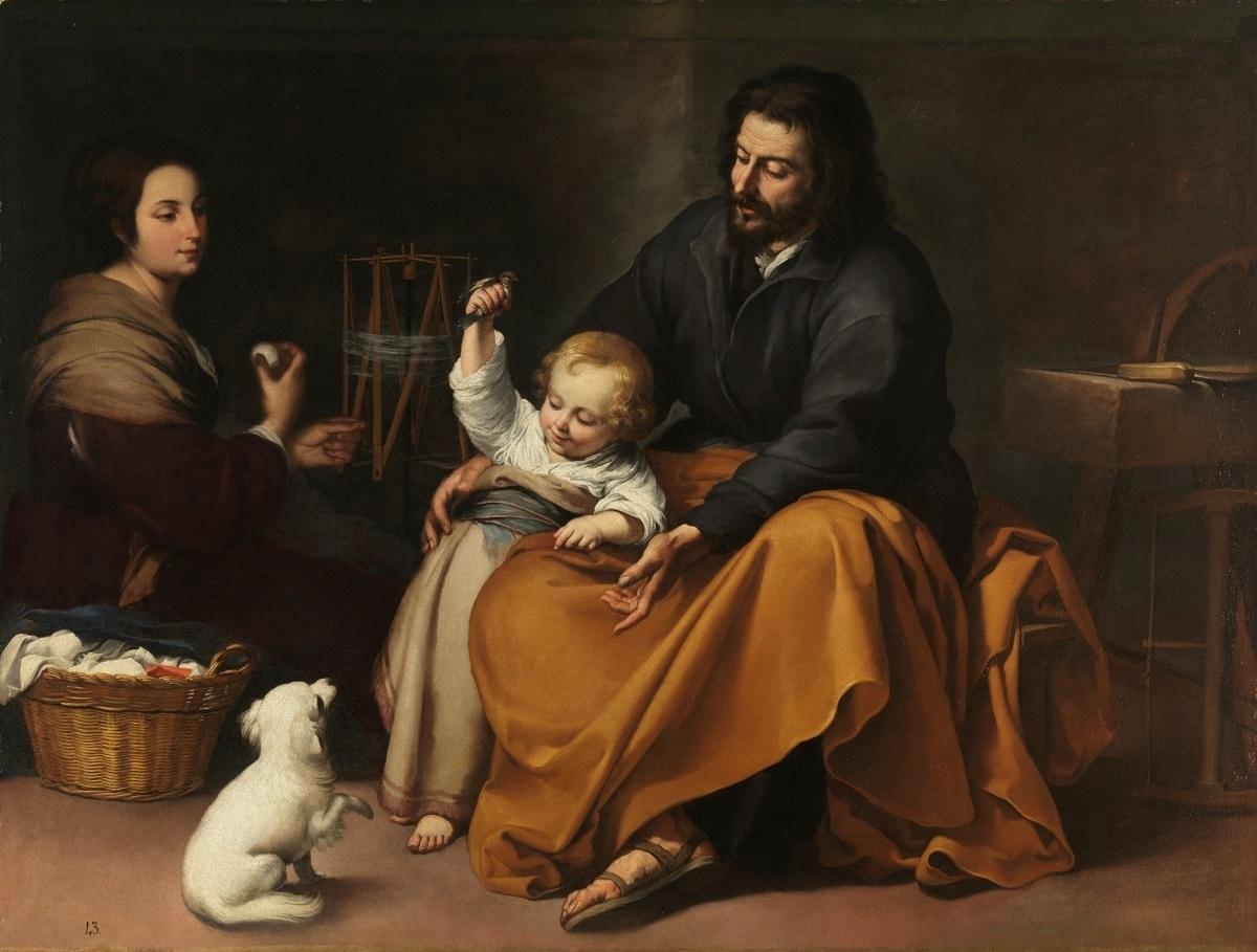 バルトロメ・エステバン・ムリーリョ《小鳥のいる聖家族》1650年頃 マドリード、プラド美術館蔵 © Museo Nacional del Prado