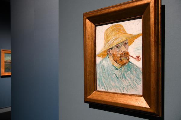 フィンセント・ファン・ゴッホ《パイプと麦藁帽子の自画像》