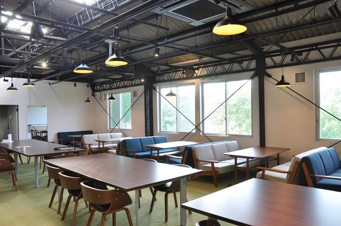 [THEATRE E9 KYOTO]2Fにある会員制のコワーキングスペース[collabo office E9]。