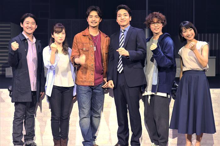 (左から)西川大貴、梅田彩佳、上口耕平、福田悠太、内藤大希、谷口あかり