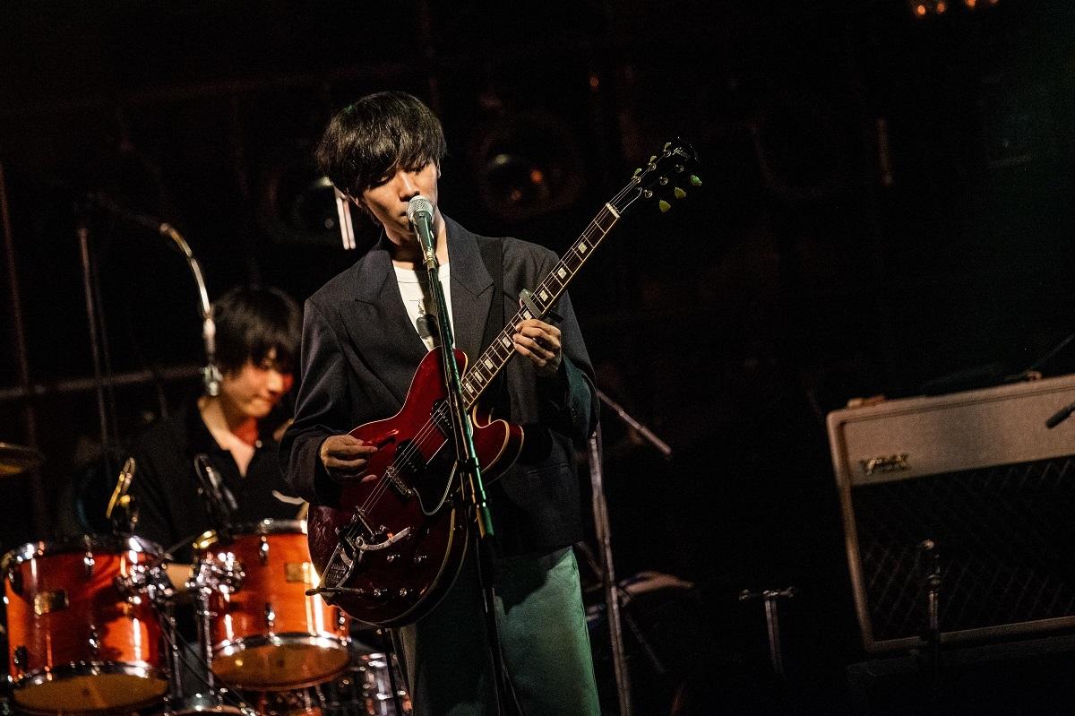 The Songbards/上野皓平(Vo,Gt) 撮影=阪東美音