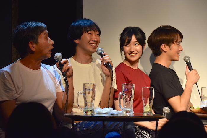 梶原善、大水洋介(ラバーガール)、前島亜美、松島庄汰(左から)