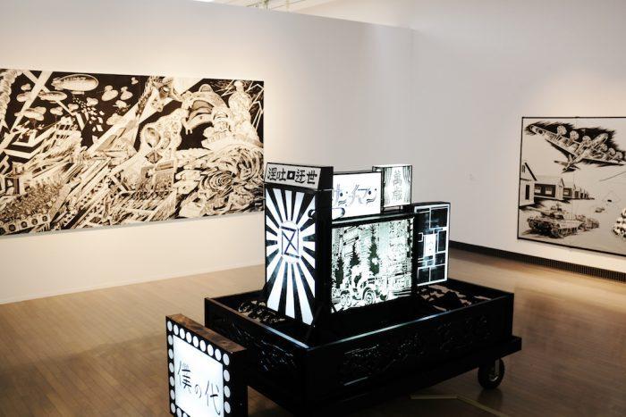風間サチコ「僕らは鼻歌で待機する」 ヨコハマトリエンナーレ2017展示風景