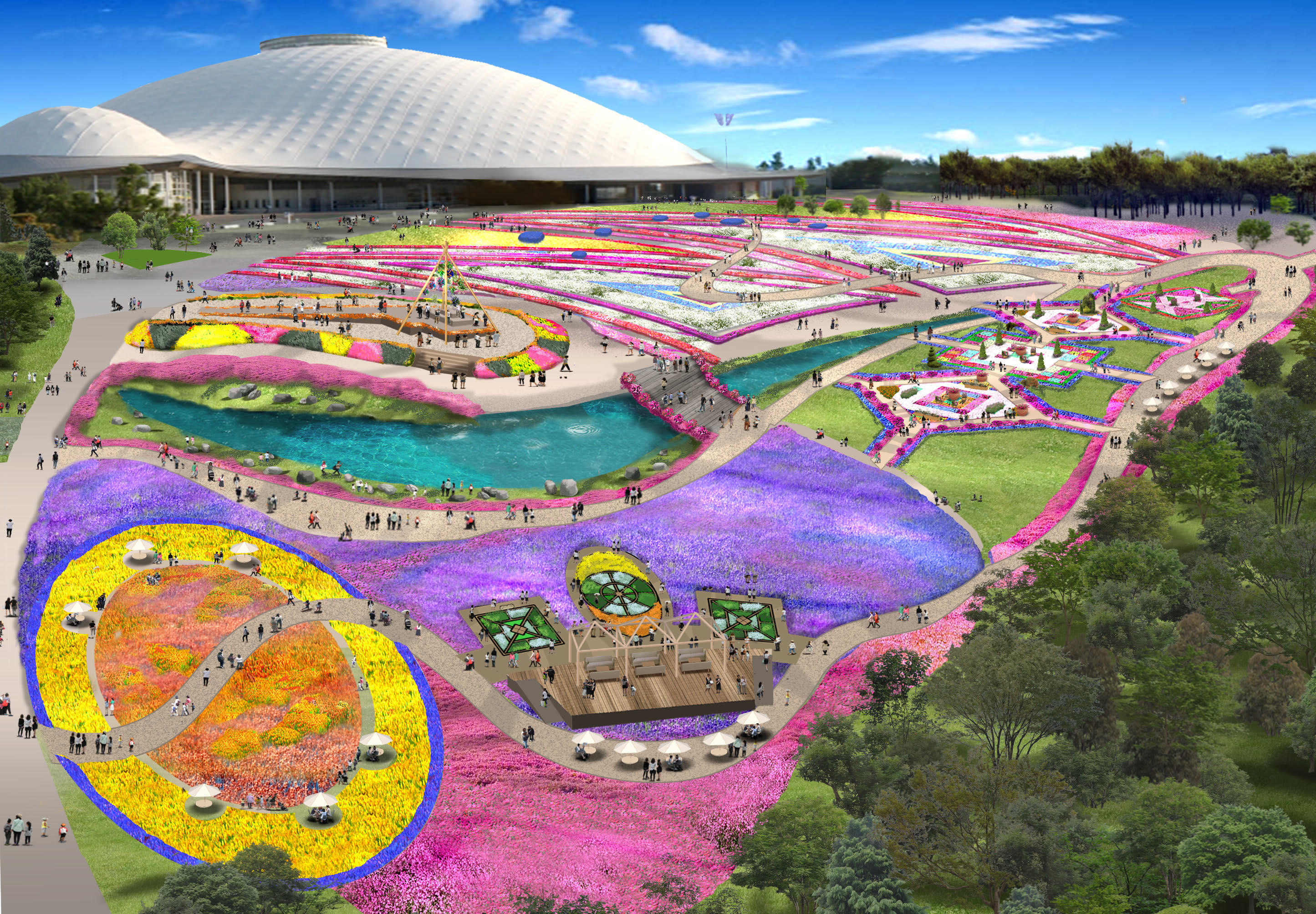 山口ゆめ花博「花の谷ゾーン」イメージ