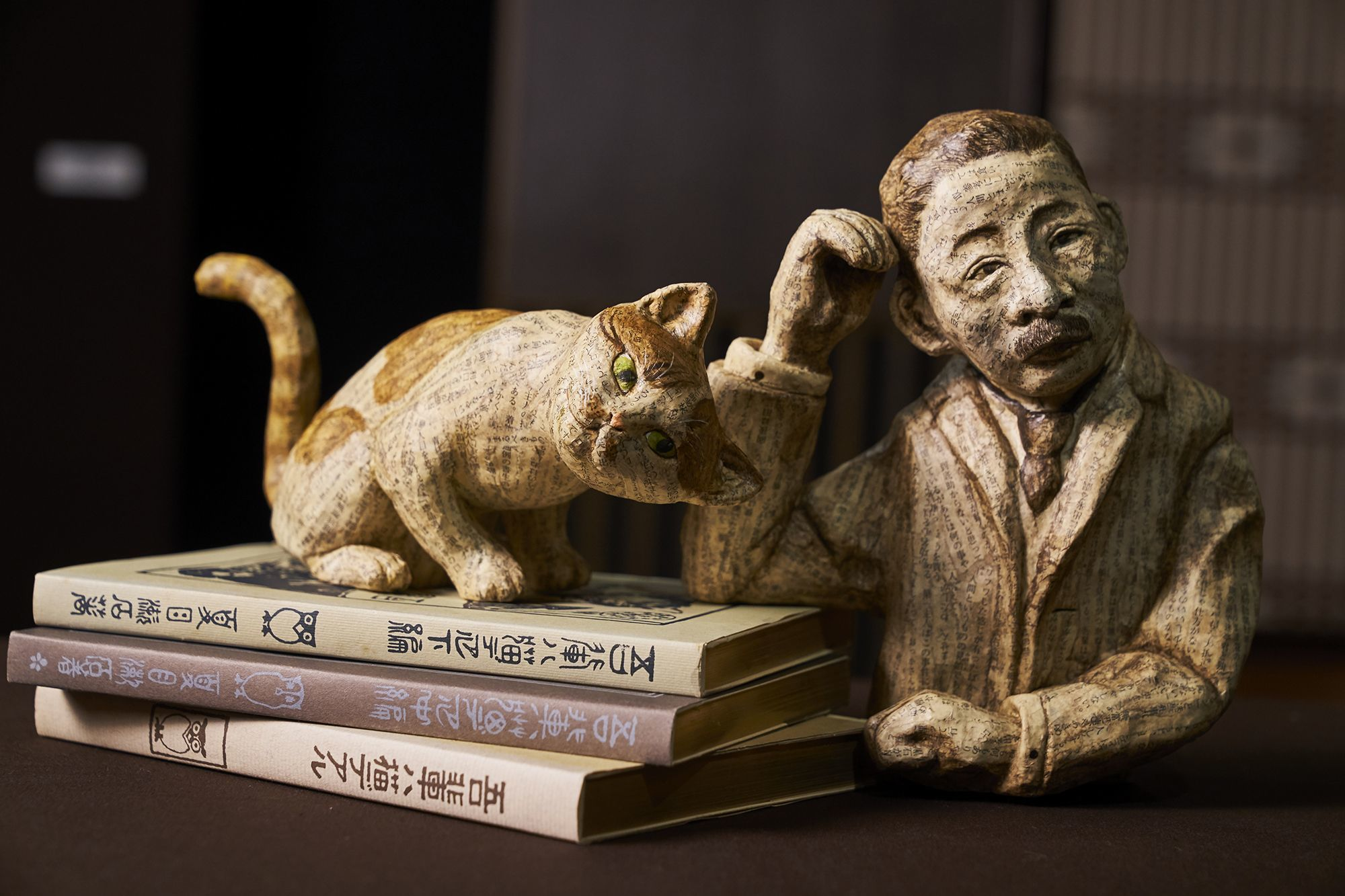 古本によって創られた張子  文庫張子夏目漱石/古本選堂