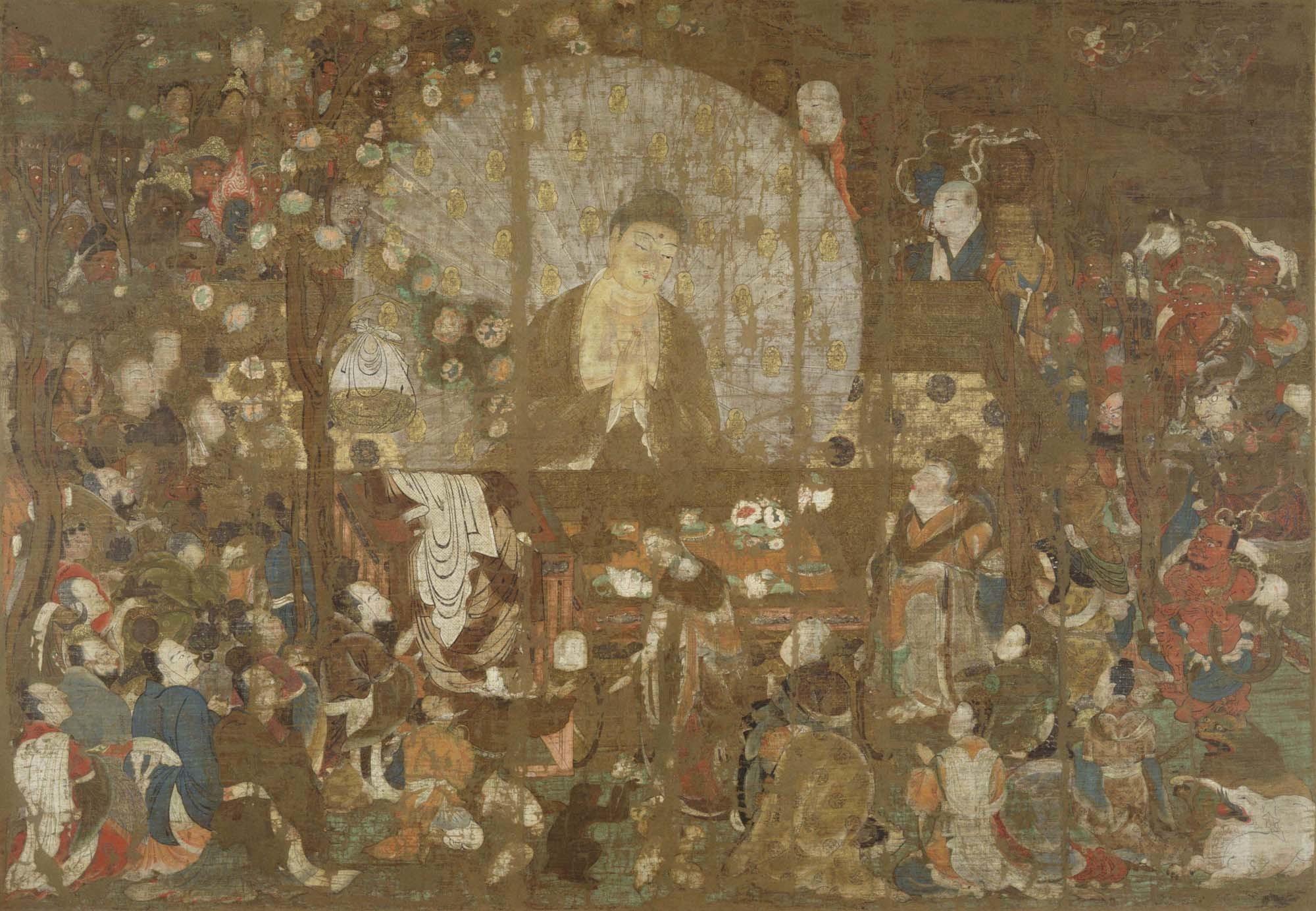 国宝「釈迦金棺出現図」