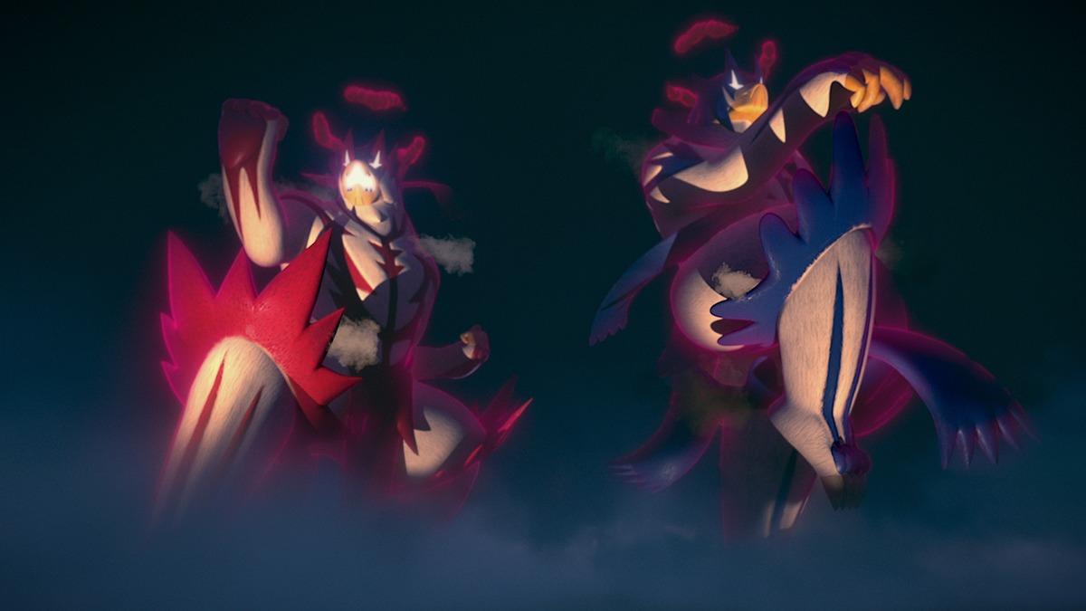 左:ウーラオス(いちげきのかた・キョダイマックスのすがた)、右:ウーラオス(れんげきのかた・キョダイマックスのすがた)※画像は、ゲーム内のものではありません。 (c)2020 Pokémon. (c)1995-2020 Nintendo/Creatures Inc. /GAME FREAK inc.