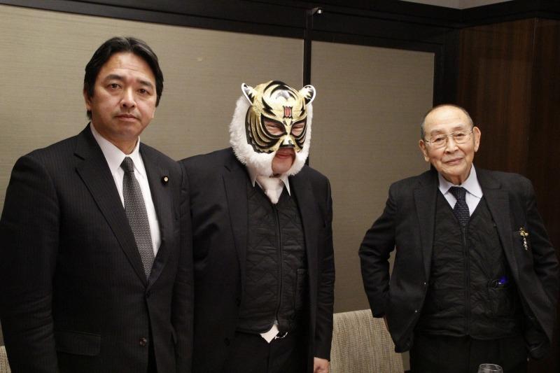 「新間寿プロデュース 初代タイガーマスク佐山サトル認定『原点回帰』プロレス」の記者会見