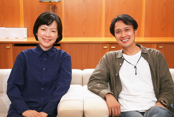 立山ひろみ(左)と大沢健