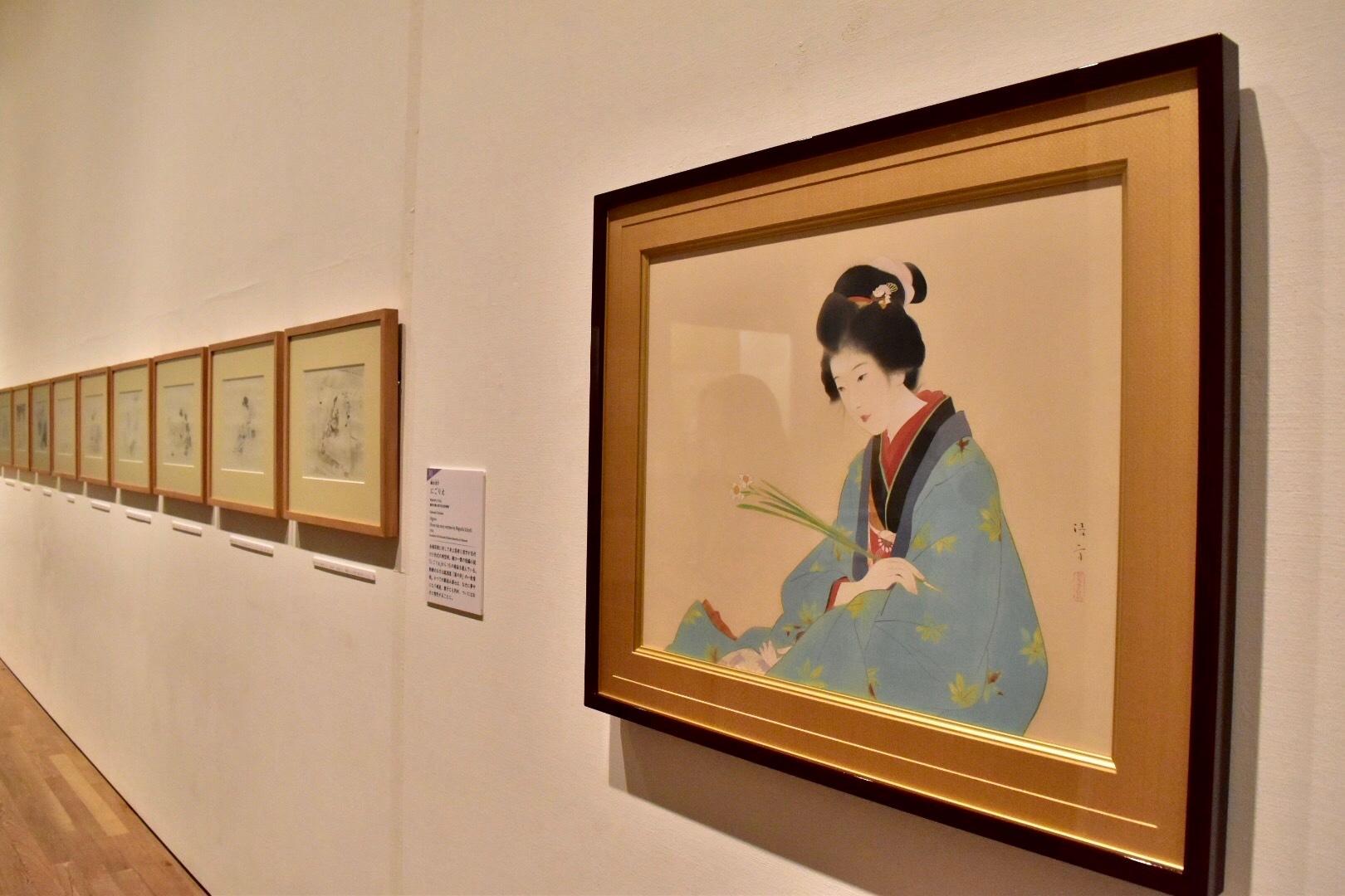 鏑木清方 《たけくらべの美登利》 昭和15年 京都国立近代美術館蔵