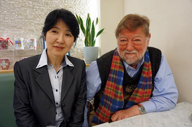 左:德川眞弓 右:C.W.ニコル