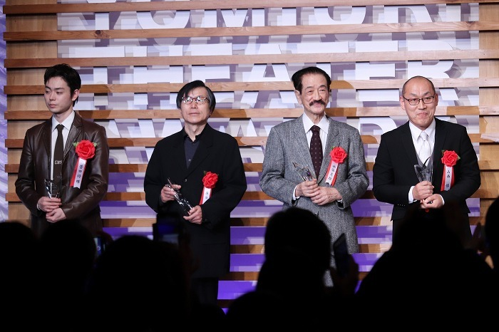 優秀男優賞(左から菅田将暉、平田満、水谷貞雄、山西惇)