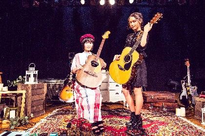 『Sing N' Play』卓越した歌とギタープレイで魅了した女性若手シンガーAnlyとReiが共演した大阪の夜