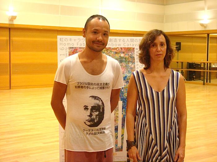 出演ダンサーの清水悟とカンパニー主宰で演出を手がけたダニ・リマ