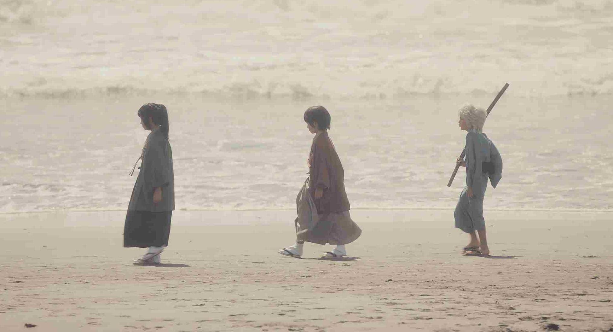 坂田銀時(小栗旬)、桂小太郎(岡田将生)、高杉晋助(堂本剛)の子ども時代 映画『銀魂』