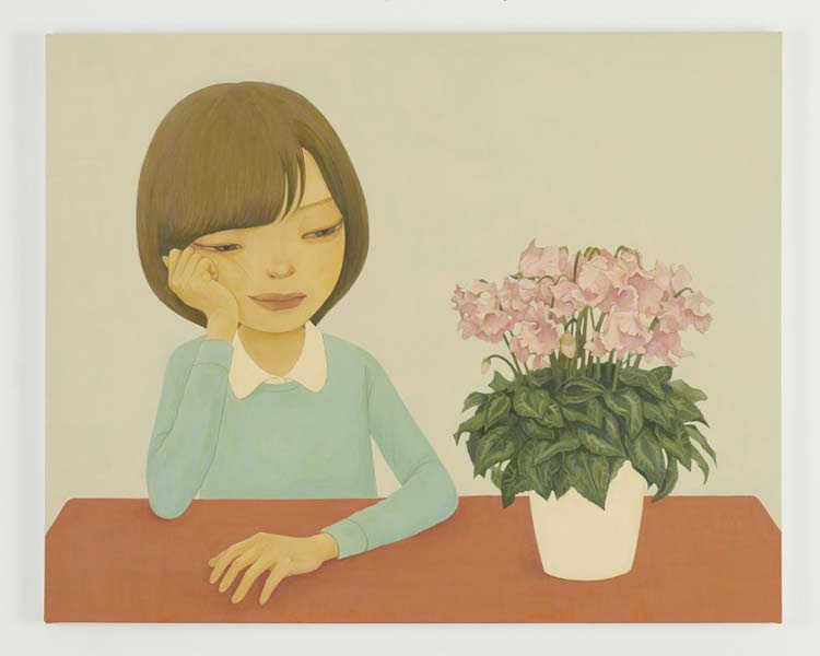 「Cyclamen」 2018acrylic on canvas 72.8 x 90.9 cm (C) Hideaki Kawashima