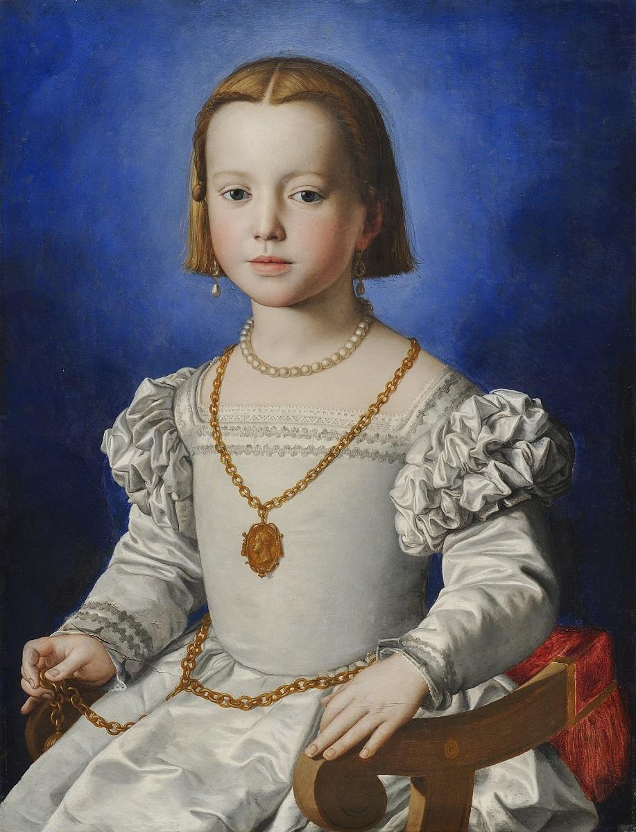 ブロンズィーノ 《ビア・デ・メディチの肖像》 1542年頃 ウフィツィ美術館 © Gabinetto Fotografico delle Gallerie degli Uffizi