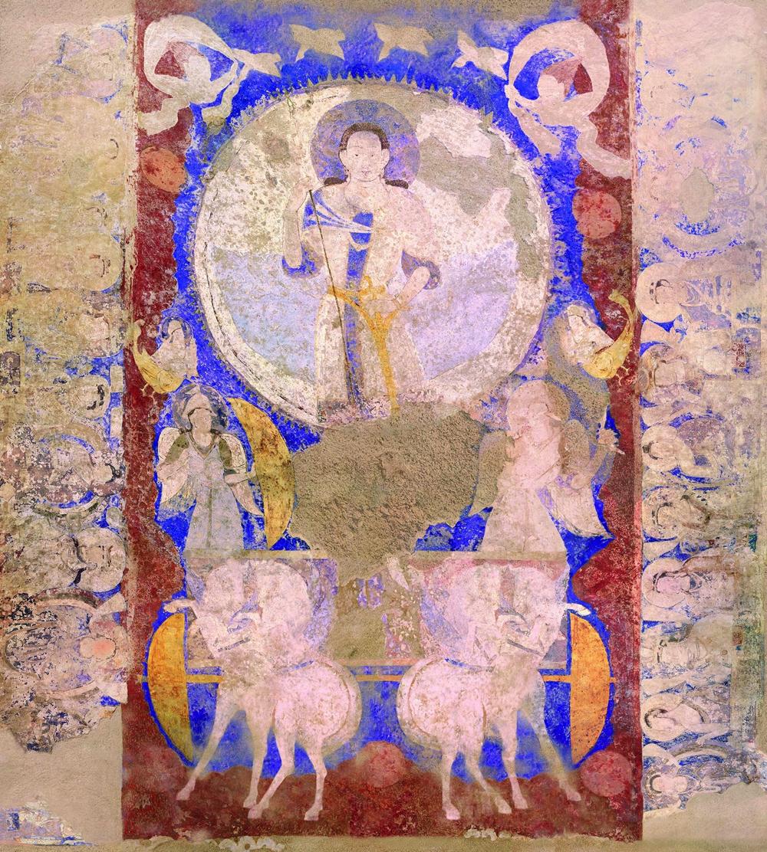 バーミヤーン東大仏天井壁画:アフガニスタン、 6世紀頃(東京藝術大学制作クローン文化財)
