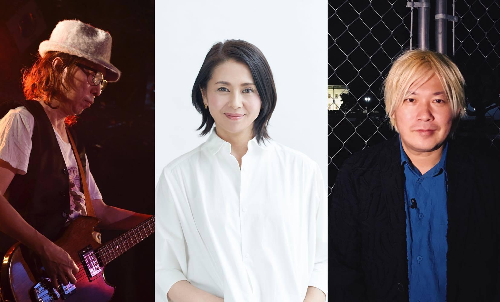 写真左から:上田ケンジ、小泉今日子、津田大介