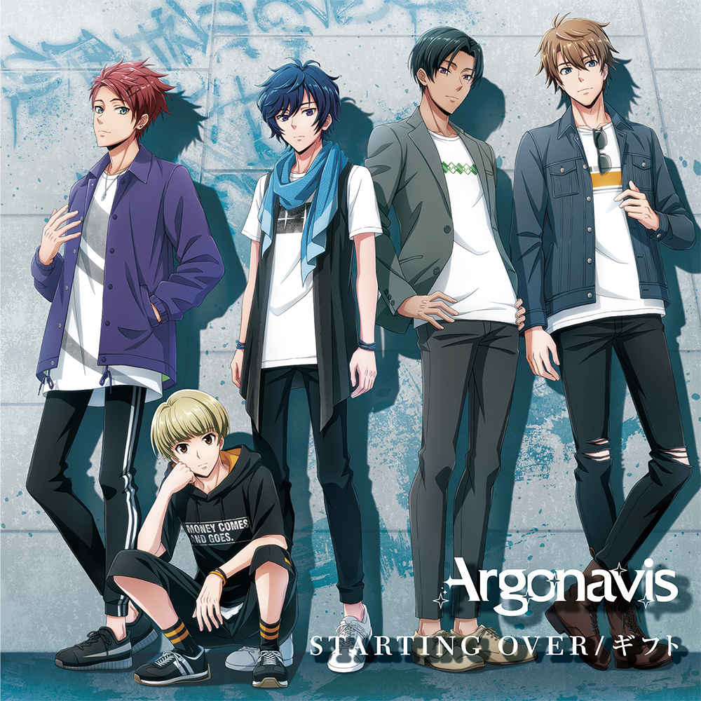 Argonavis 2nd Single「STARTING OVER/ギフト」通常盤ジャケット (C)ARGONAVIS project. (C)BanG Dream! Project