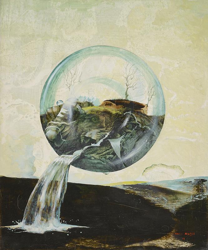 麻田浩《落水風景》1973年 油彩・キャンバス 個人蔵
