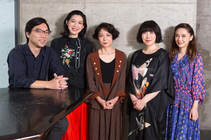 (左から)倉持裕、江口のりこ、千葉雅子、池谷のぶえ、倉科カナ (撮影:敷地沙織)