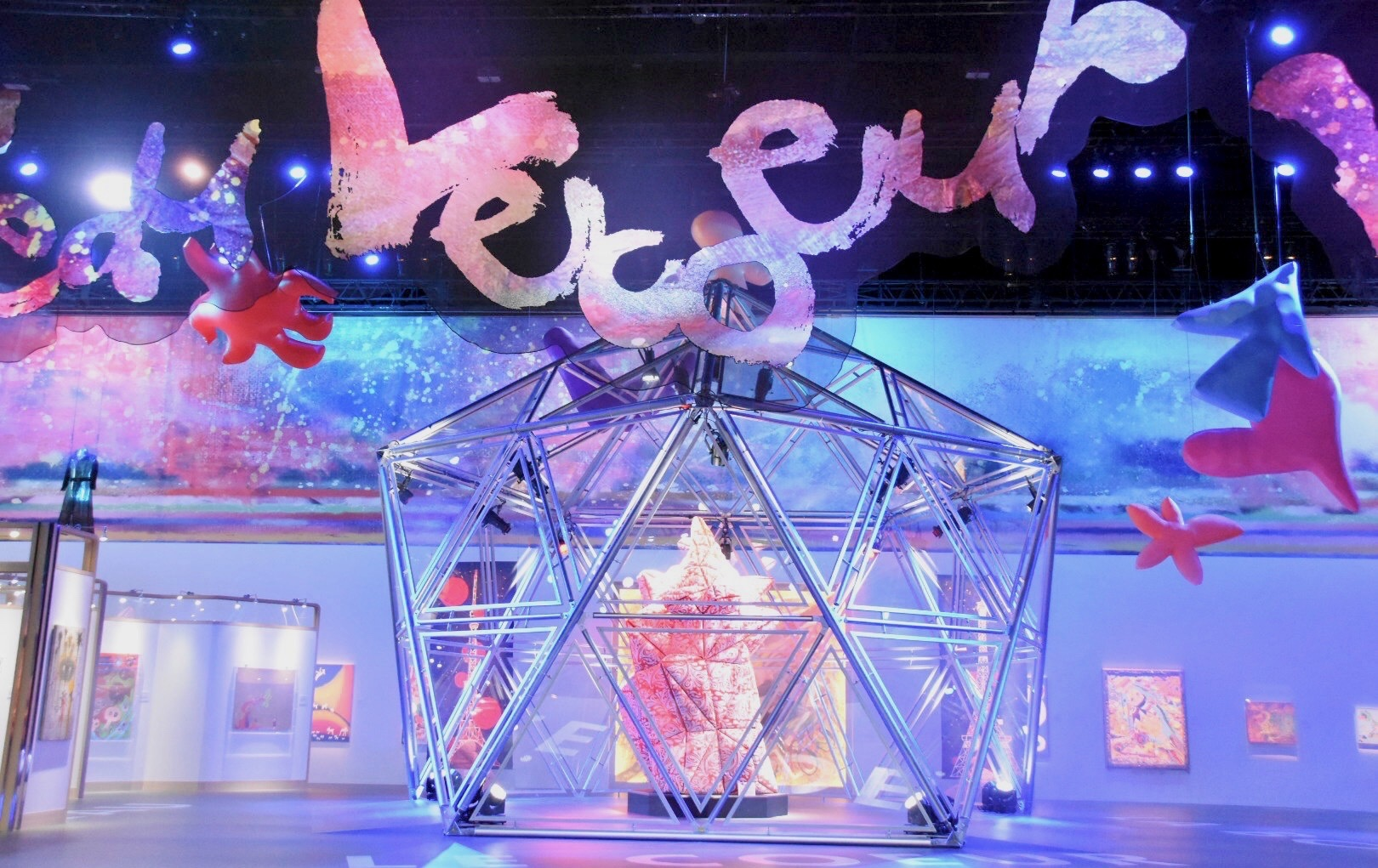 Stage A 「心臓」ドーム 展示風景