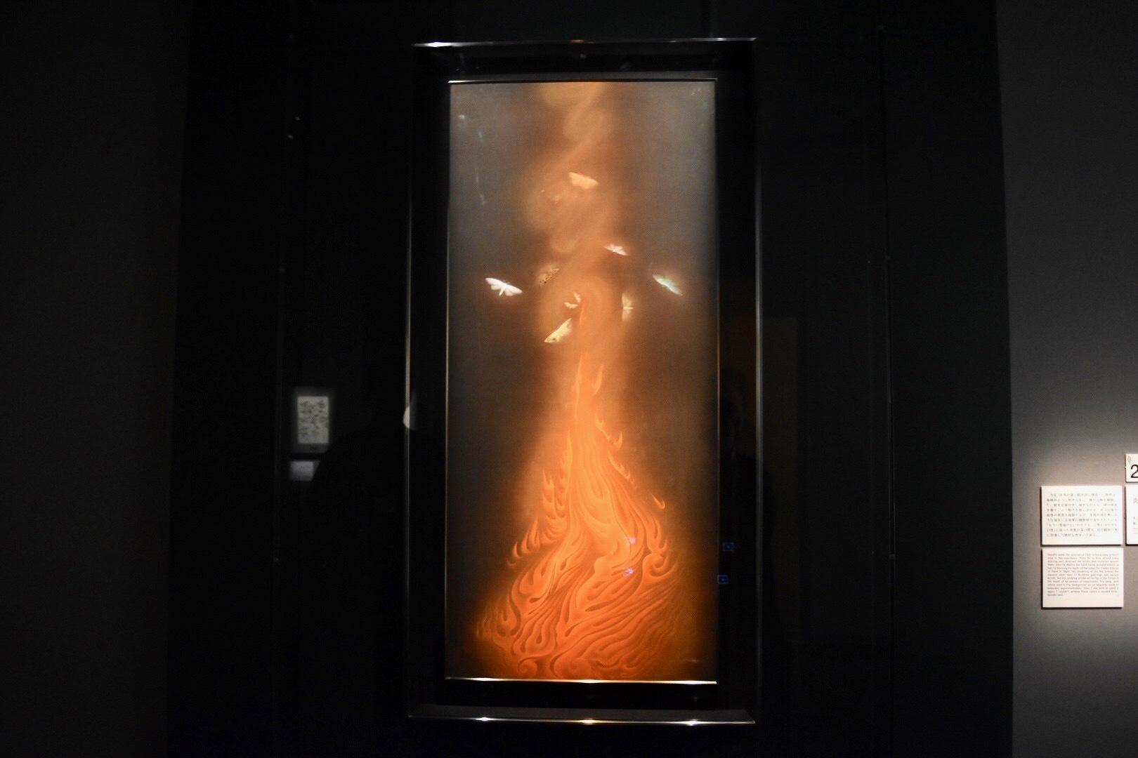 速水御舟 《炎舞》(重要文化財) 大正14年 山種美術館蔵