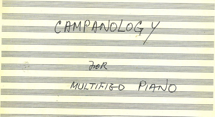マルチピアノのためのカンパノロジー