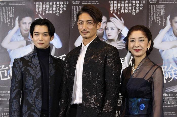 (左から)千葉雄大、玉木宏、高橋惠子『危険な関係』