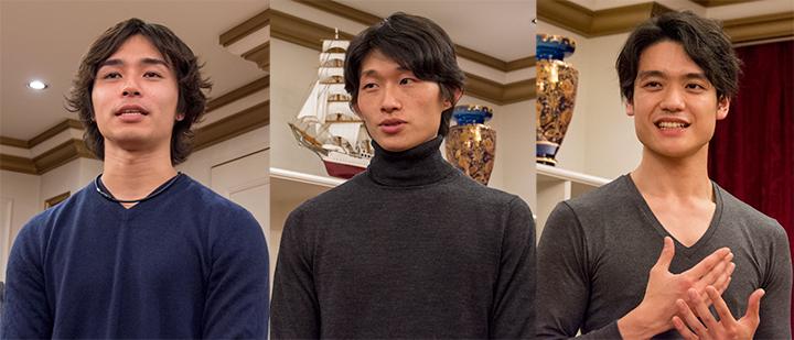 左より:柄本弾、秋元康臣、岸本秀雄