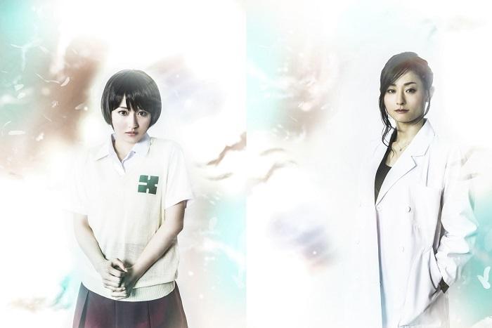 三島リサ役の桃瀬美咲と、大沢役吉川麻美