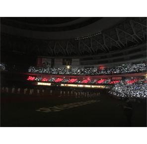 「大阪限定ルミカライト」でライトアップされた球場の様子(※画像はイメージ)