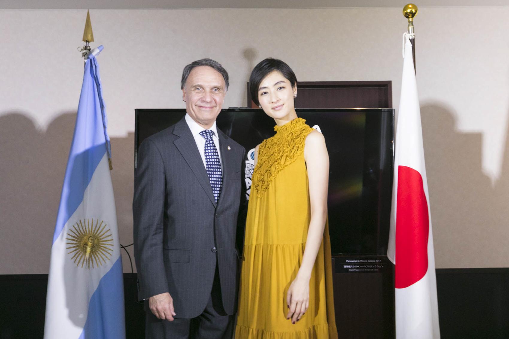 アラン・ベロー駐日アルゼンチン共和国大使、シシド・カフカ