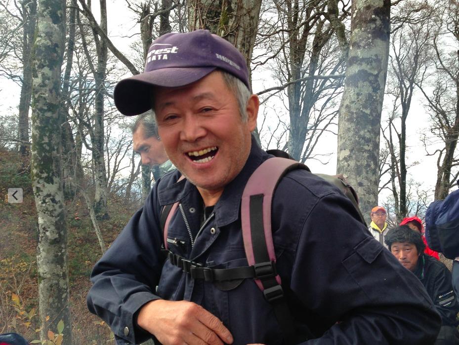 主催者で山熊田マタギの大滝国吉さん