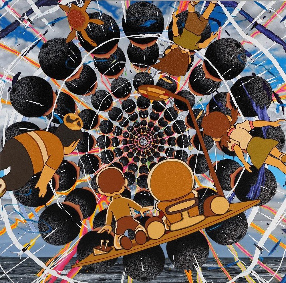 山本竜基『山本空間に突入するドラえもんたち』 ©YAMAMOTO Ryuki ©Fujiko-Pro Courtesy of Mizuma Art Gallery