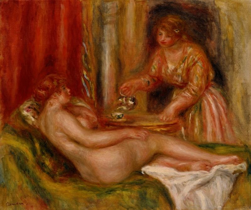 ピエール・オーギュスト・ルノワール《休息》1916-1917年 ポーラ美術館