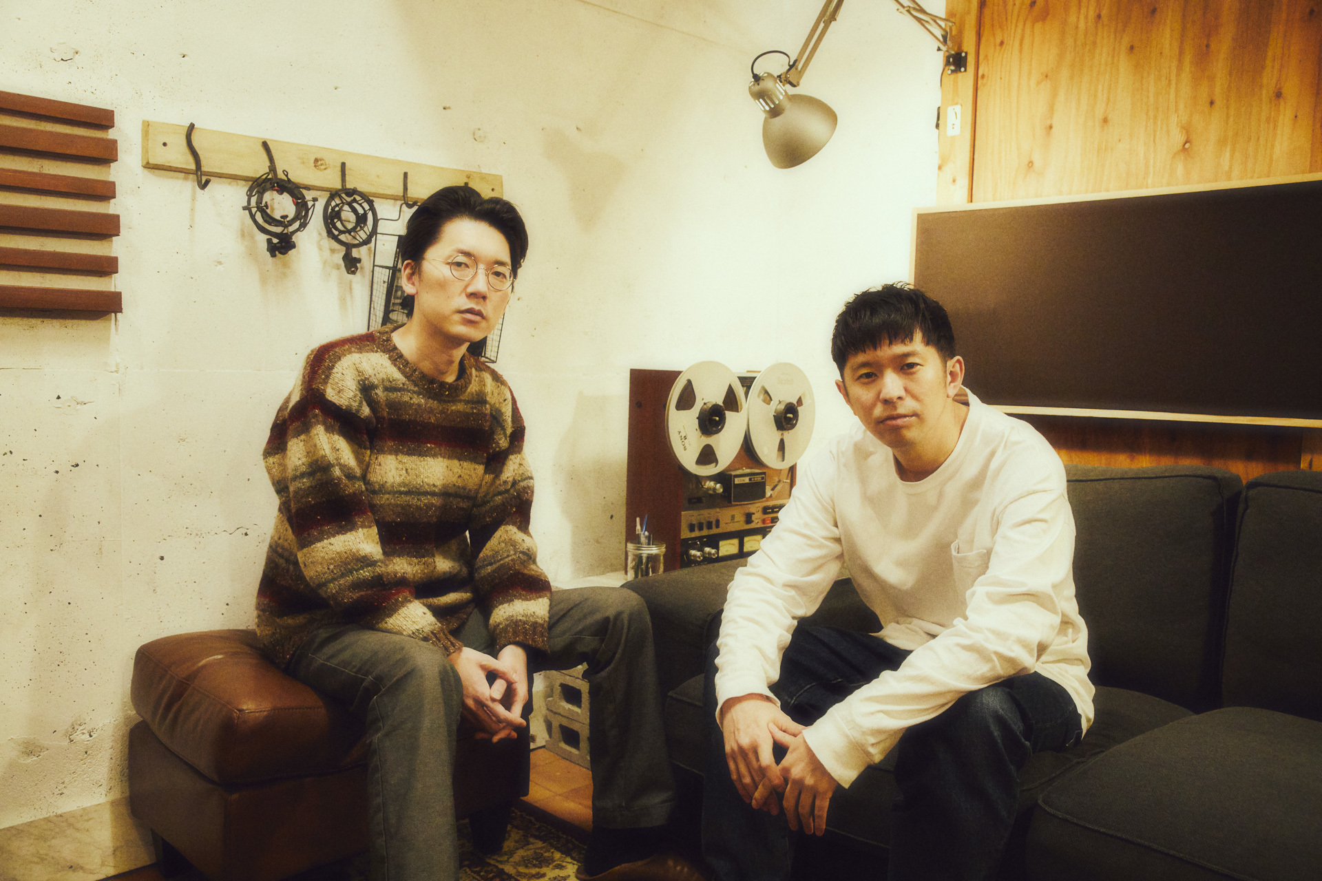 Keishi Tanaka×Kan Sano(レコーディング現場) 撮影=山川哲矢