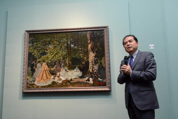 本展に学術協力している東京大学の三浦篤教授がギャラリートークに登場