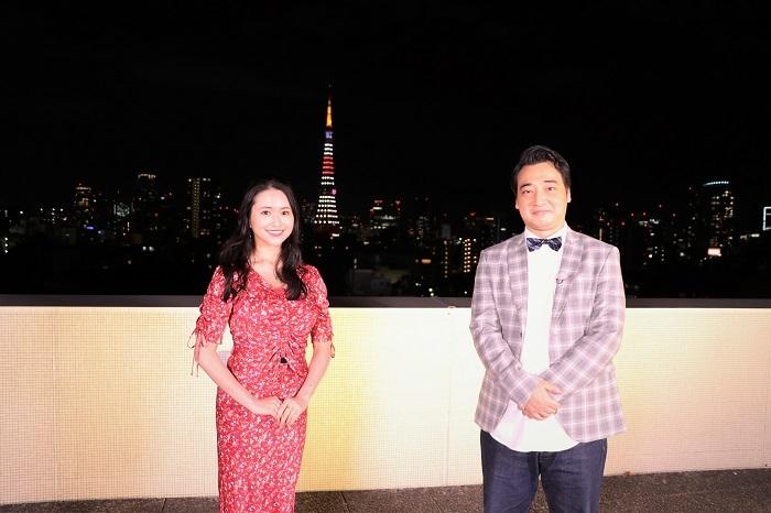 (左から)小南満佑子、斉藤慎二(ジャングルポケット)