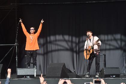 コブクロ、福岡・天神でサプライズシークレットライブを開催 3,800人のファンが熱狂