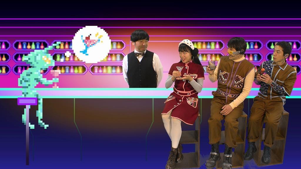 宇宙船パート(左から)本多力、藤谷理子、酒井善史、永野宗典