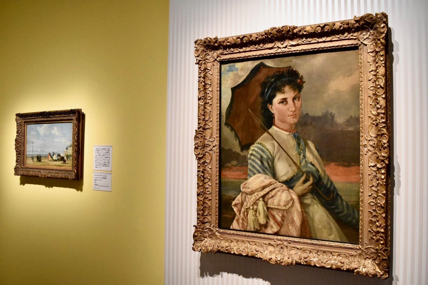 右:ギュスターヴ・クールベ 《マドモワゼル・オーブ・ドゥ・ラ・オルド》 1865年 油彩、カンヴァス (C)CSG CIC Glasgow Museums Collection