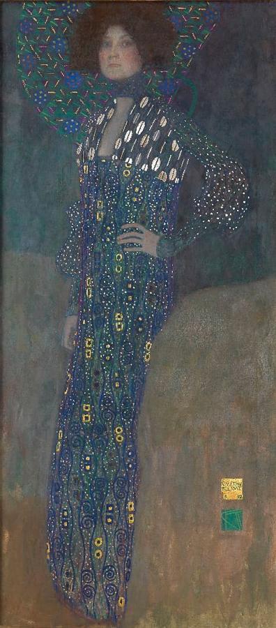 グスタフ・クリムト 《エミーリエ・フレーゲの肖像》 1902年 油彩/カンヴァス ウィーン・ミュージアム蔵 (C)Wien Museum / Foto Peter Kainz
