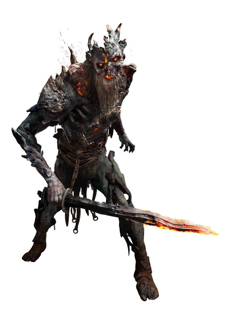 体験会で登場した敵その1「ドラウグル」。そこかしこに登場するゾンビタイプの敵。火炎を投げつけてくる遠距離攻撃タイプや、ダッシュ攻撃をしてくるスピードタイプなどがいる。