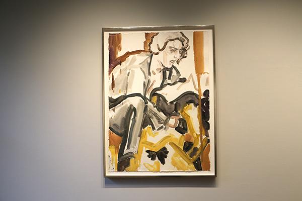 """Carmen; Jonas Kaufmann(3)"" 手漉き紙にモノタイプ 119.4cm x 85.1cm 2011"