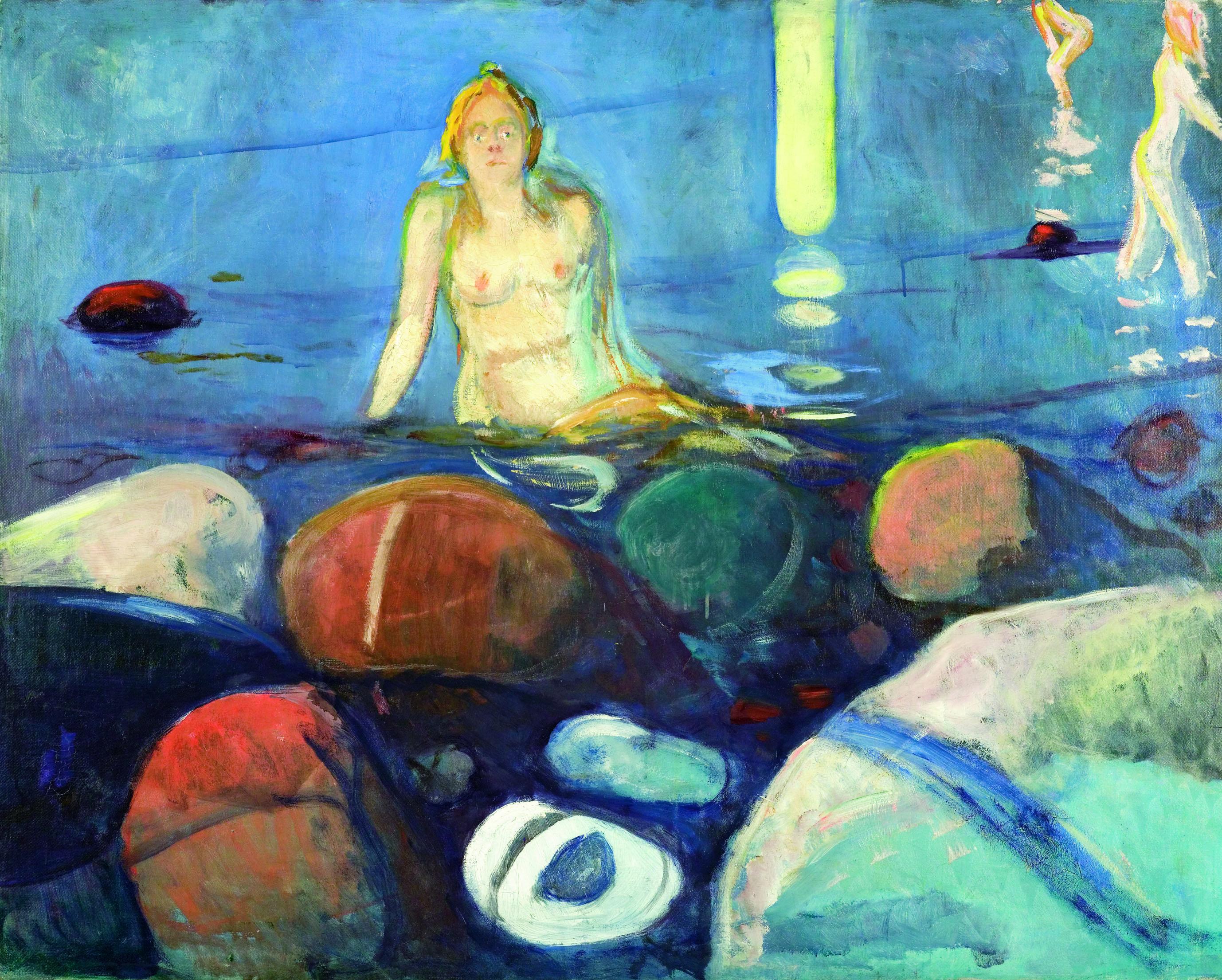 エドヴァルド・ムンク《夏の夜、人魚》1893年 油彩、カンヴァス 93×117cm