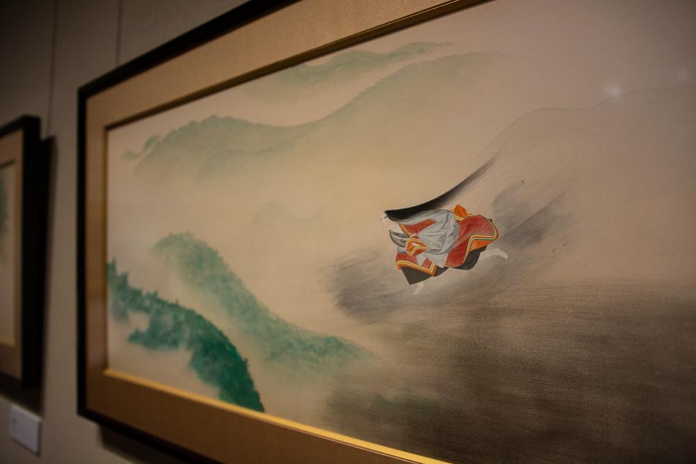 小林古径《清姫》のうち「清姫」1930(昭和 5)年 山種美術館