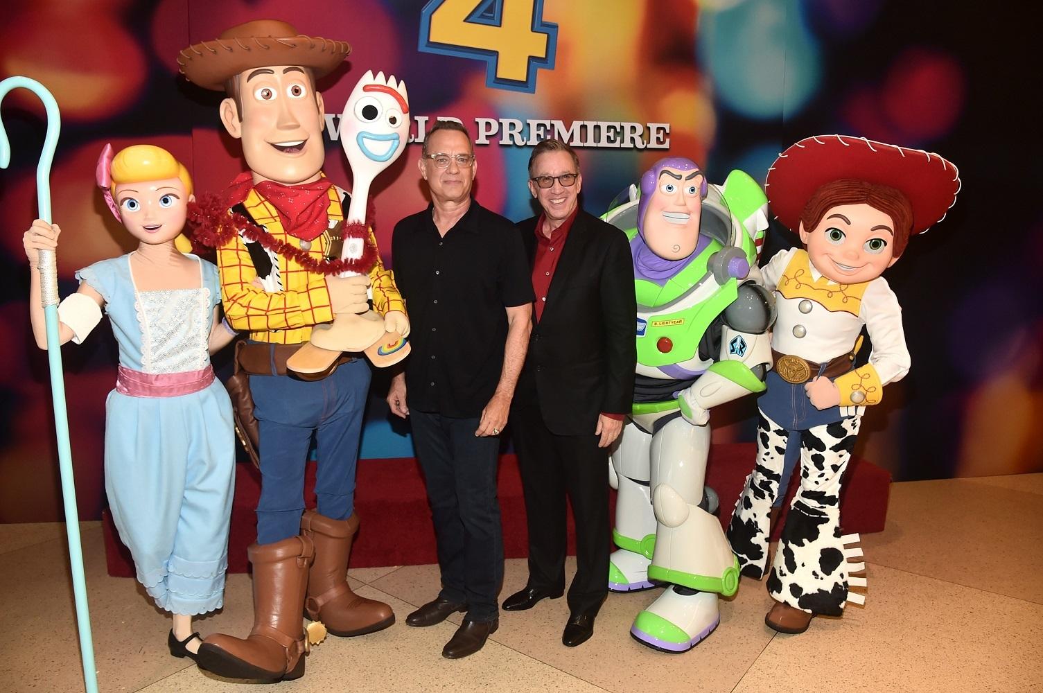 トム・ハンクス&ティム・アレン (C)2019 Disney/Pixar. All Rights Reserved.