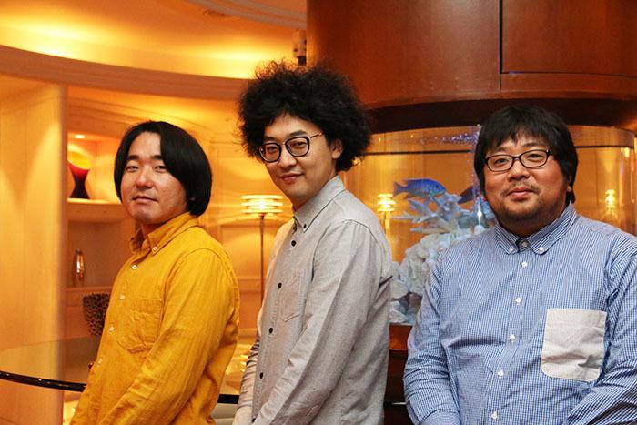 (左から)本多力、今井隆文、諏訪雅